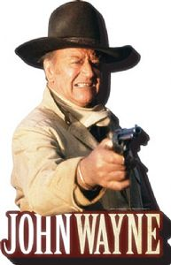 John Wayne Shoot chunky thick fridge magnet    (nm)